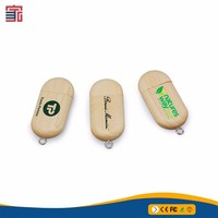 2018 Wedding Gift Wood Bamboo Usb 2.0 Memory Stick Flash Pen Drive 4gb 8gb 16gb 32gb