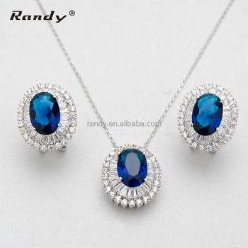 Elegant Earrings Necklace Jewelry Set Blue Sapphire Diamond Costume Jewelry Set  sc 1 st  Alibaba & Elegant Earrings Necklace Jewelry Set Blue Sapphire Diamond Costume ...
