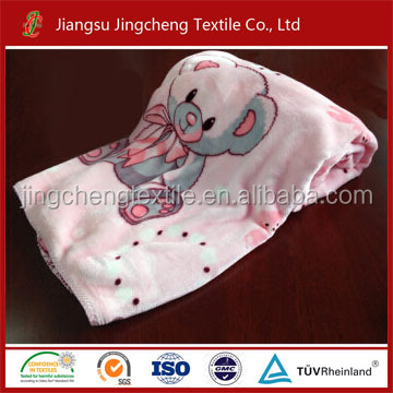 100% polyester flannel blanket for baby swaddle blanket new designs/new born blankets factory China JCBL04001
