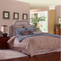 New Arrival Luxury Design Home Textile King Size Duvet Cover Bedding Room Silk Bedding Set