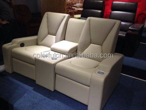 Electric Leather Sofa Recliner For Home, Hotel Leather Cinema Sofa/recliner  Theater Chair/
