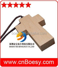 God so loved the world. Wooden Cross usb stick for Christian
