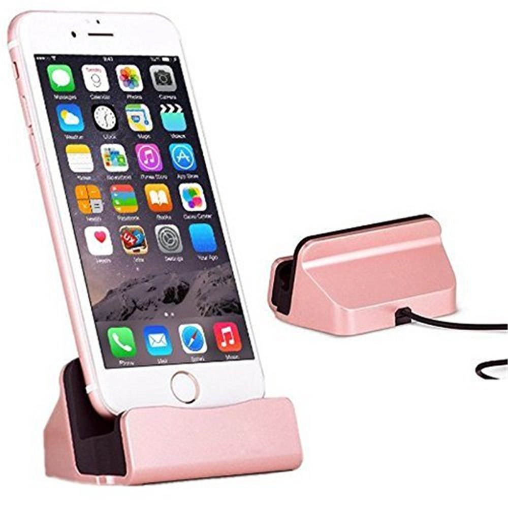 iPhone Charger Dock,SUMOON iPhone Desk Charger,Charge and Sync Stand for iPhone 7 7Plus 6 6s 6Plus 5 5s SE,Charge cradle Charger Station desktop (Rose Gold)