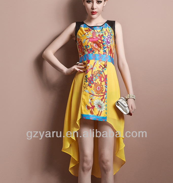 frock design printed dresses chiffon summer long arabic women clothing c479d203e
