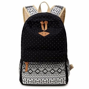 Dot Casual Canvas Backpack Bag, Fashion Cute Lightweight Backpacks for Teen Young Girls Brand Export School Bag
