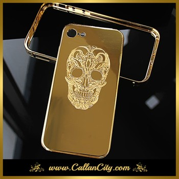 reputable site 9d88b 9fe71 24k Gold Plating Skull Design Case For Iphone 7 Personalize - Buy 24k Gold  Plating Case,Gold Plating Case For Iphone,Case For Iphone 7 Product on ...