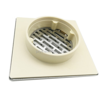 JUTYE brand SS304/201 square polished stainless steel balcony stainless steel floor drains bathtub drain parts