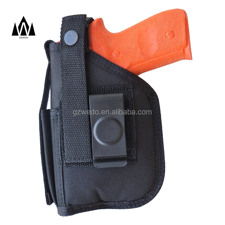 Hip Holster Belt Clip Gun Holster for S&W M&P and M&P 2.0 in 9mm, 40 & 357 with Underbarrel Laser Mounted on Gun