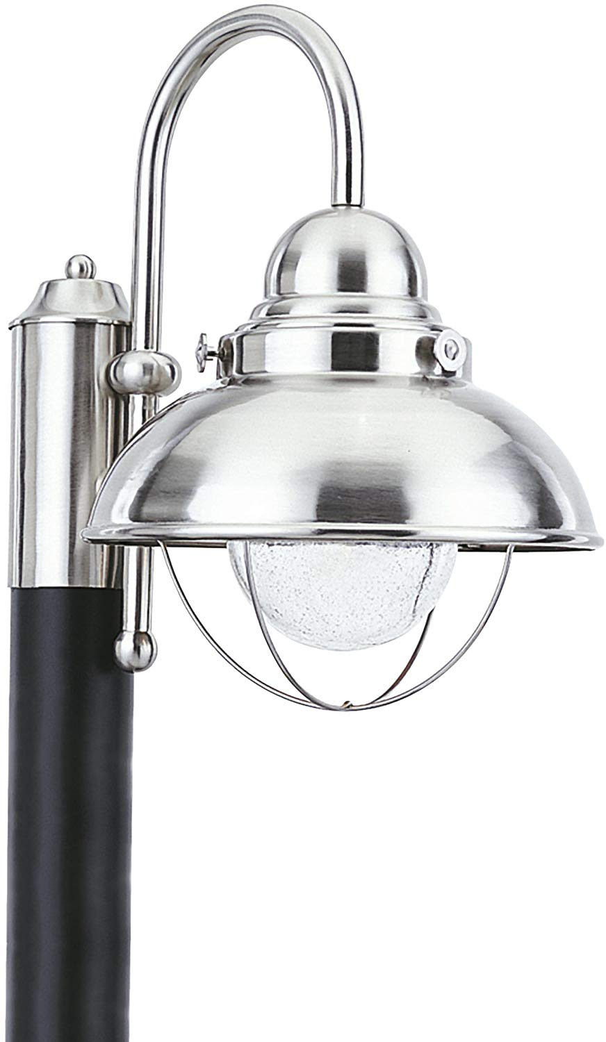 Sea Gull Lighting 826993S-98 Sebring Outdoor Post Mount, 1-Light LED 14 Watts, Brushed Stainless