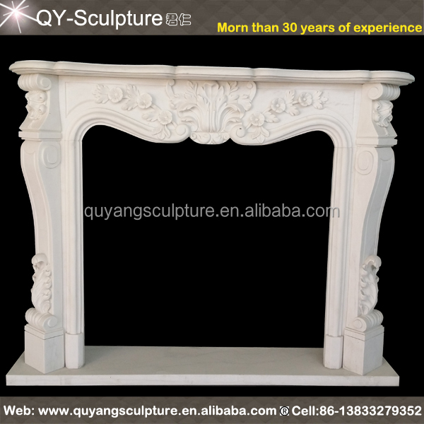 CUSTOMIZE Own Size 100% natural marble fireplace mantel