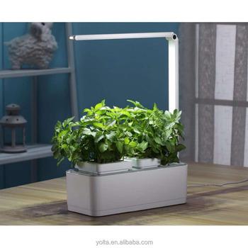 smart indoor garden kit hydroponics led growing system 2 self watering gardening pots - Indoor Garden Kit