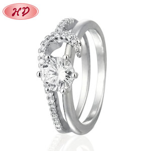 Cheap Unique White Gold Rings Design Weeding Diamond Couple Rings,Jewellery In Silver Color