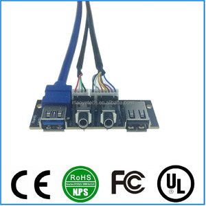PC Computer Case USB Front Panel mounted cable USB 3.0 + USB 2.0 Audio Port Connection Cable