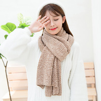 Korean Fashion Scarf Winter Women 2018 Hot Selling Knitted Scarf Elegant Warm Scarf
