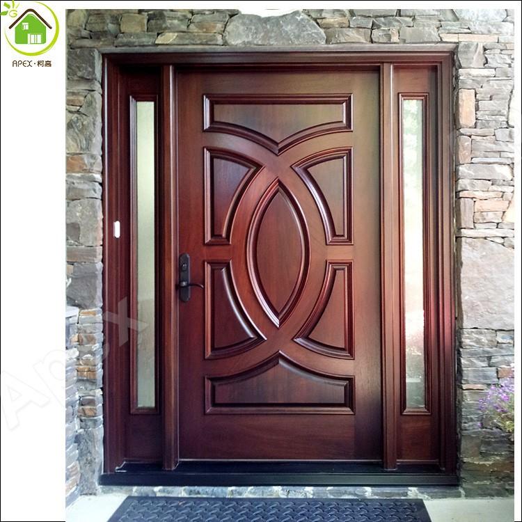 Mahogany Front Door Double Door Solid Wood Entry Door With