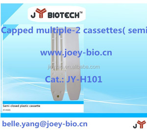 semi-closed multi-slot plastic cassette for rapid test kit