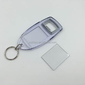 Transparent Photo Frame Acrylic Bottle Opener Keychain For Promotion - Buy  Acrylic Bottle Opener Product on Alibaba com