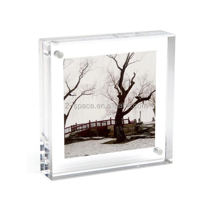 4x4 Clear Square Acrylic Magnet Photo Frame