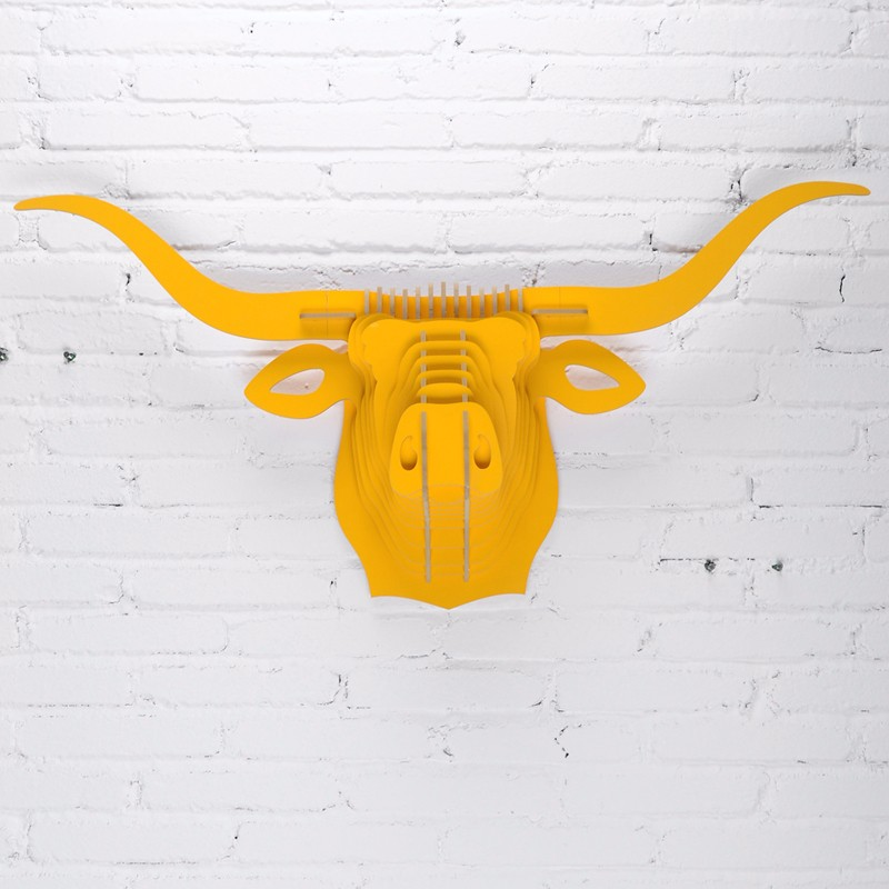 Nordic Home Decorations 3d Diy Wood Carving Bull Head Buffalo Ox ...