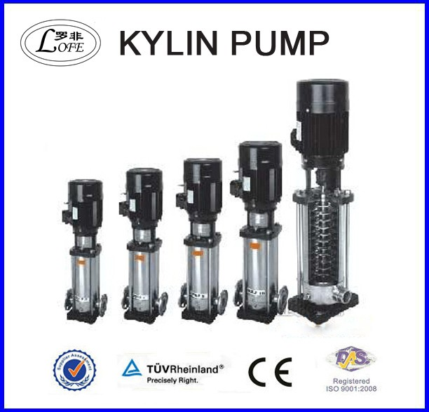 vertical multistage inline water pump stainless steel centrifugal pump