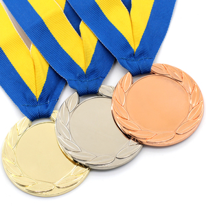 Cheap Custom Zinc Alloy Blank Gold Award Sport Medals For Printing