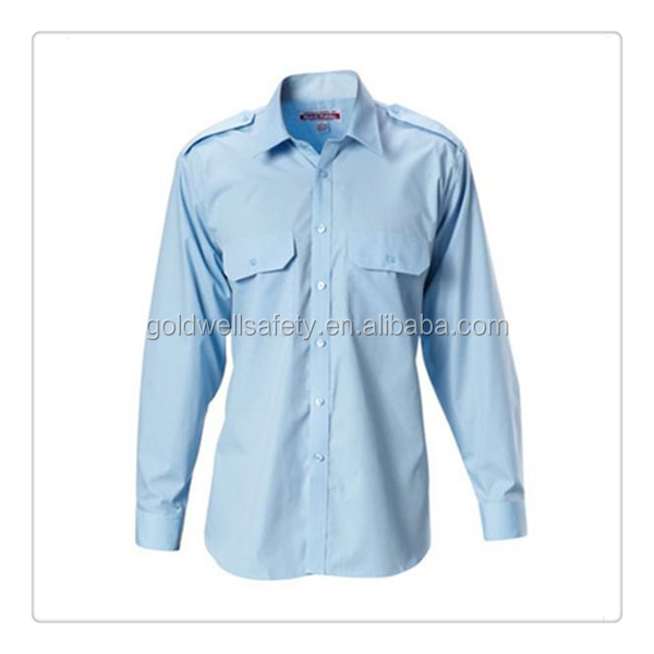 100%cotton Pure white long-sleeve work shirt/office shirt