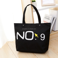 new products black cotton shopping bag,custom made tote canvas shopping bag