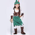 2016 New Baby Girl Pirate Cosplay Clothing Set Classical Halloween Performance Clothing Set Girl sets Free