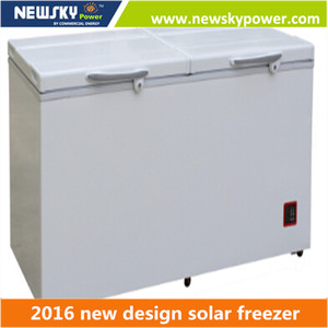 362L DC 12V/24V half fridge half freezer Solar refrigerator and freezer