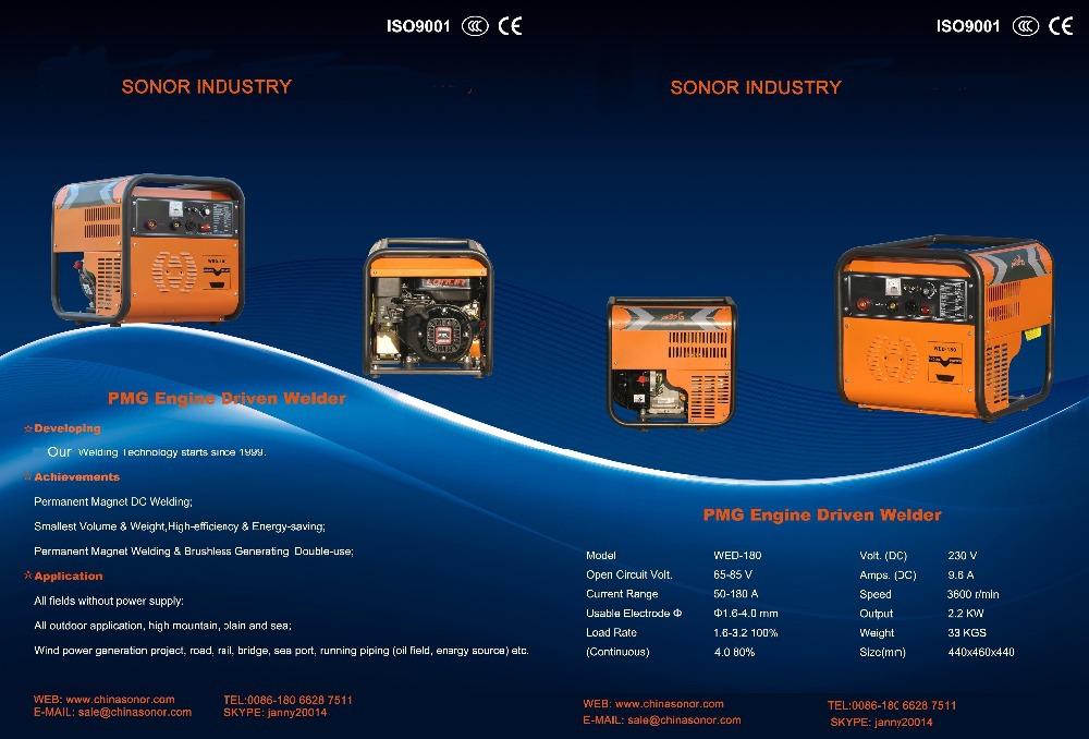 29kg Mini Engine Driven Welder/portable Engine Driven Welder ...