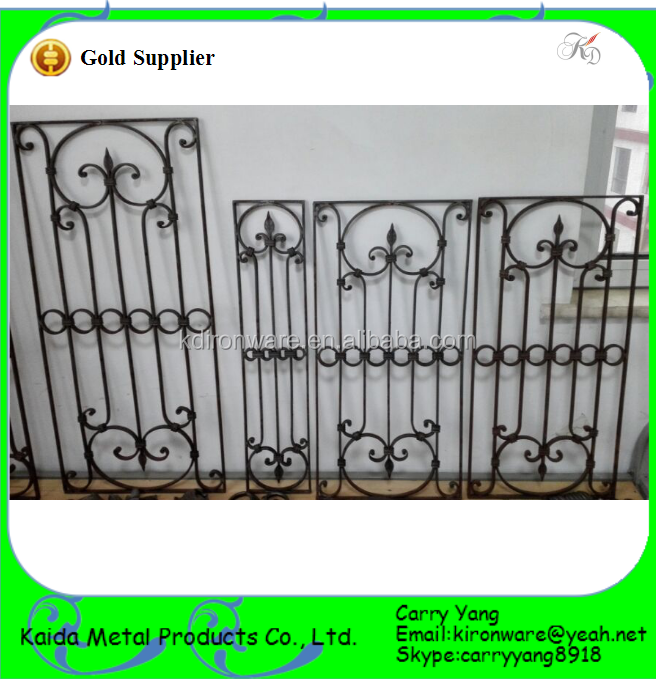Modern french wrought iron window grill design buy iron for Modern zen window grills design