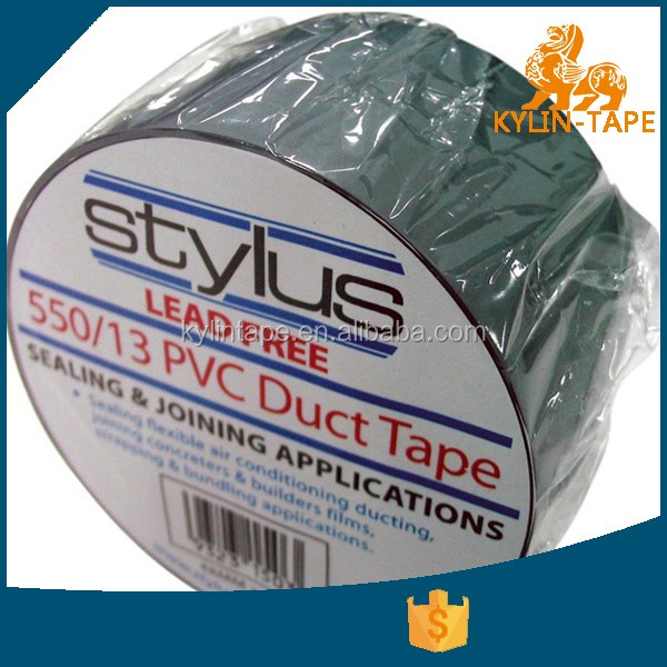biggest manufacture 48mm size customize PVC Duct Tape gray