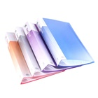 Colorful clear filling book of 10 sheets to 100 sheets inner with A4 size use for documents storage filling in office and school