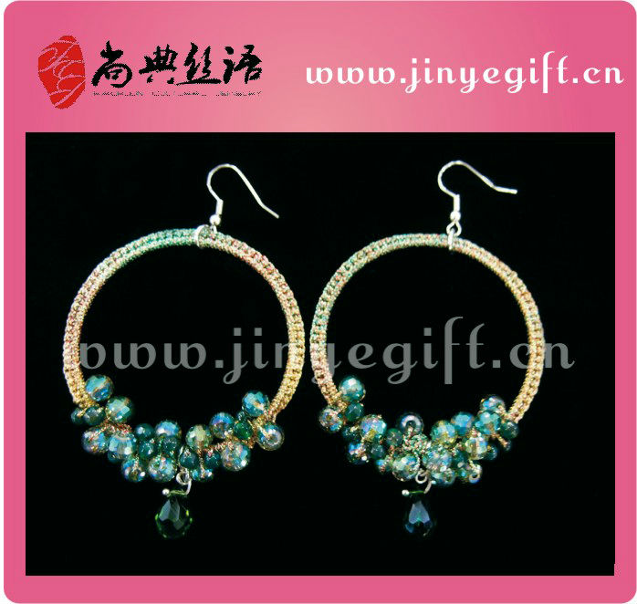 Trendy Jewelry Delicate Handmade Pewter Crafts Crochet Jewelleries Earrings