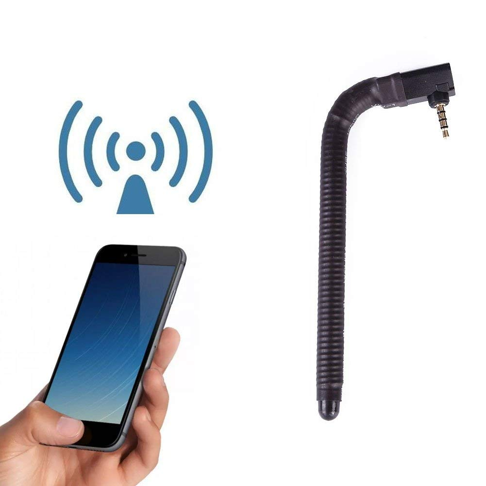 3.5mm connector FM Radio Antenna 8~25cm Radio Small speaker Mobile Cell Phone ^D