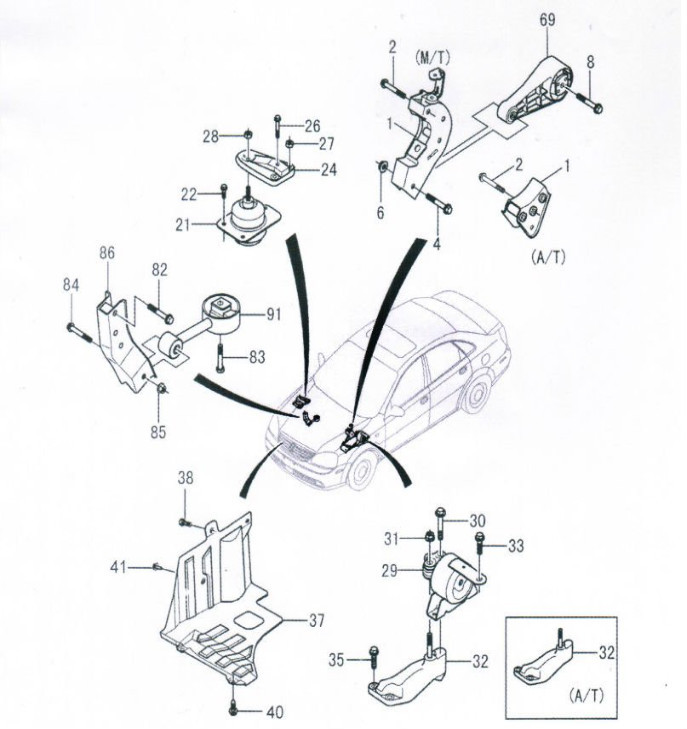Guangzhou Supplier Auto  Car Parts Engine Mount 96626768 For Chevrolet Captiva