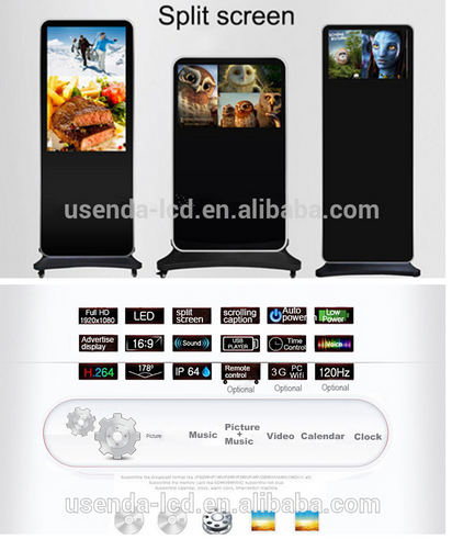 46inch digital poster frame poster board screen maker with android