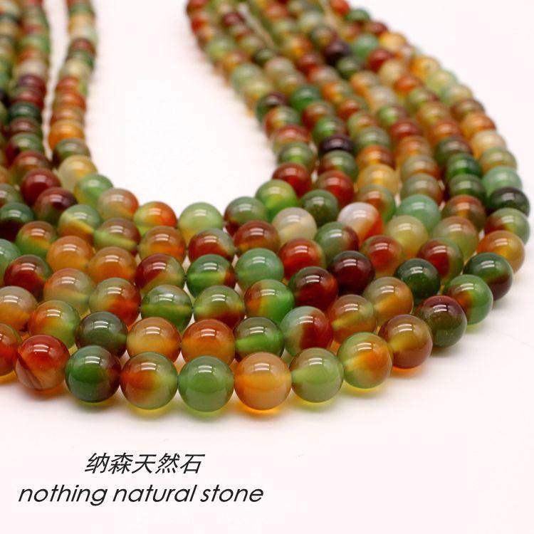 632ef2928a96 Venta al por mayor AAA + facetado India ágata cuentas de piedra Natural para  la fabricación de la joyería DIY pulsera Material 4 6 8  10 12mm por hebra