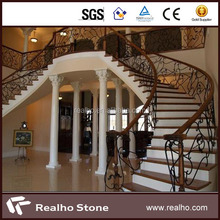 Red/White Stone Stair Steps Risers Granite Marble Stairs For Home Decoration