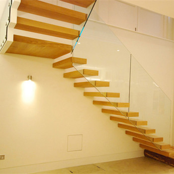 Cantilever Staircases For Indoor Use With Frameless Glass Railing Design -  Buy Cantilever Staircases For Indoor Use,Indoor Wooden Staircase,Stainless