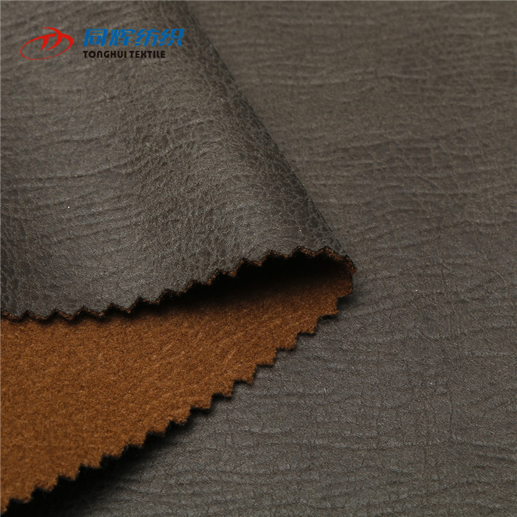 Wholesale 100% Polyester Knitted Printed Hot Stamping Micro Suede Fabric, Synthetic Leather Suede