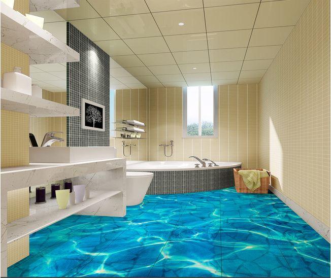 Factory price bathroom tile 3d ceramic wall and floor tile for Bathroom 3d floor