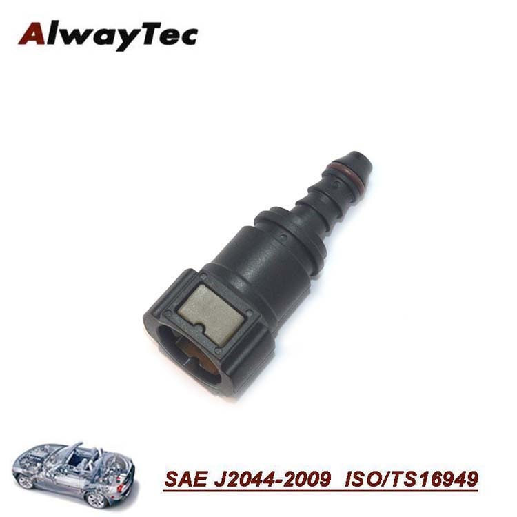 High quality 2 button 9.89mm Straight garden hose quick connector, plastic gas hose connector
