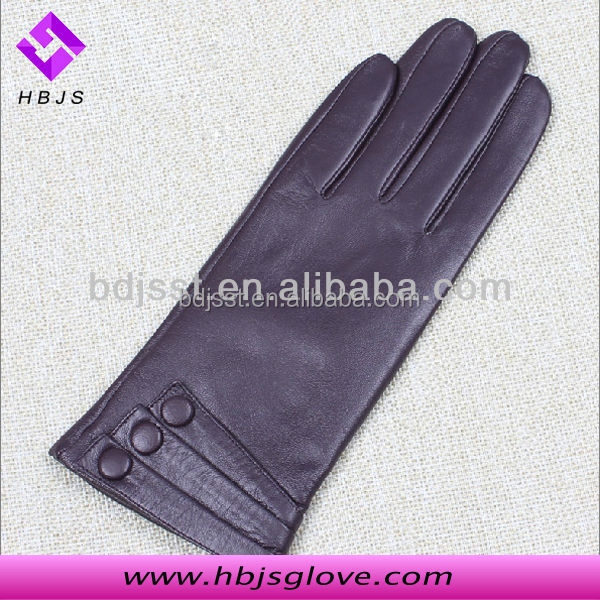 Skin Tight Sexy Women Leather Gloves Size 9