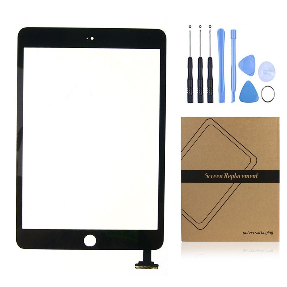 iPad Mini 2 Screen Replacement, Universal Buying Touch Panel Outer Glass Lens with Flex Cable Screen Digitizer Complete Assembly for iPad Mini 2(black)