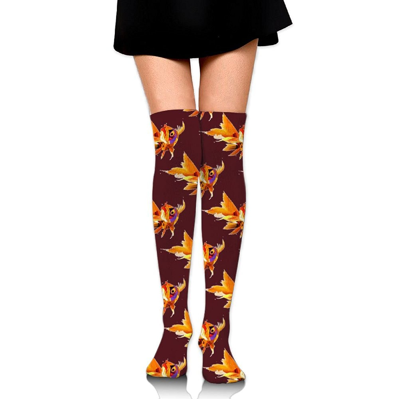 Zaqxsw Fish Painting Women Retro Thigh High Socks Long Socks For Teen Girls