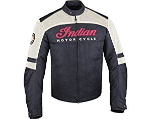 MENS BLACK LIGHTWEIGHT MESH MOTORCYCLE JACKET BY INDIAN MOTORCYCLE (MD)