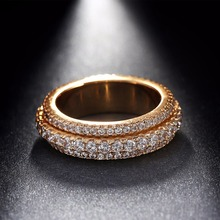 Latest Designs Diamond Engagement Wedding Ring Gold ,Saudi Gold/Silver Plated Jewelry Crystal Ring Woman