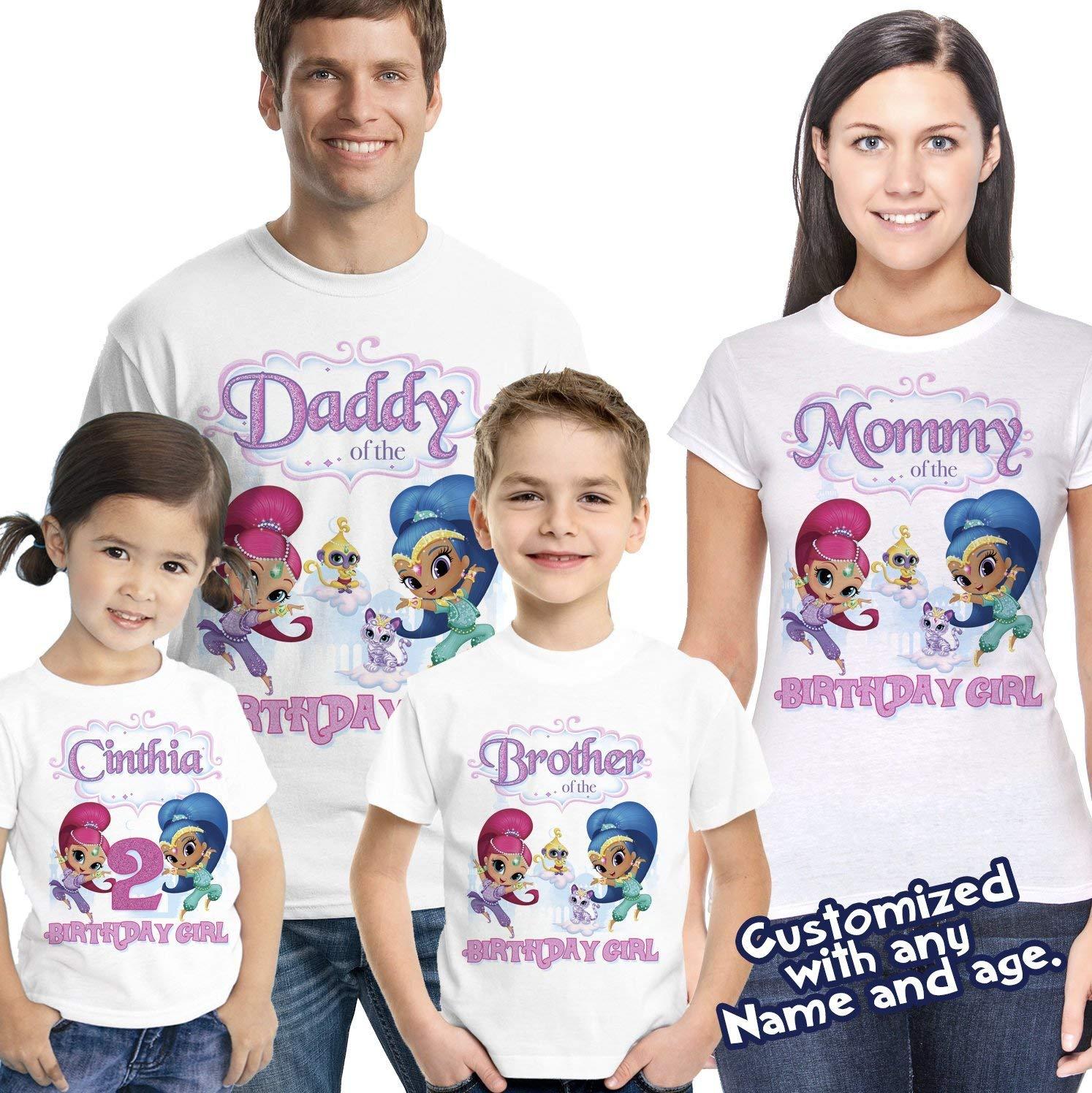 Shimmer and shine shirt, shimmer and shine shirt, family matching shirts, shimmer and shine birthday party shirt, shimmer and shine party