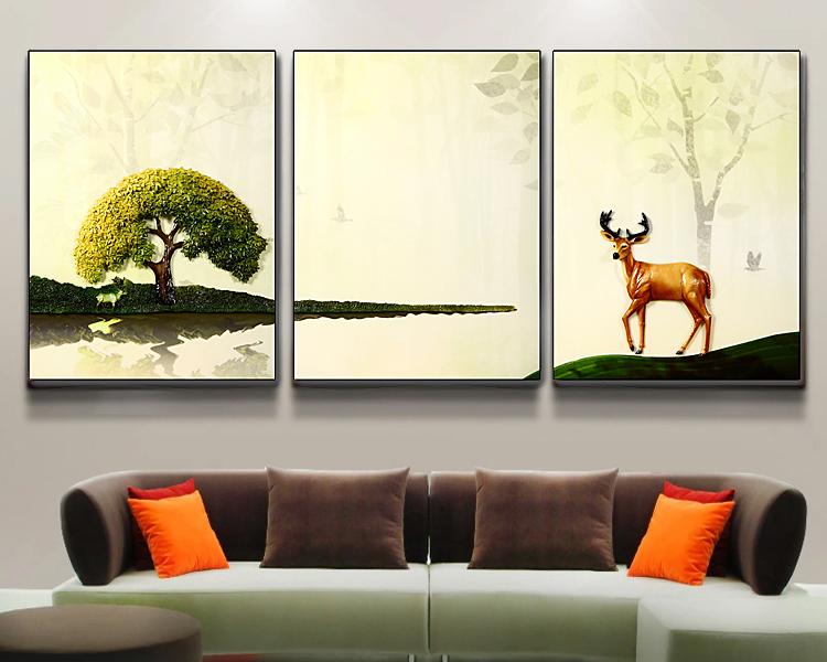 Populaire Fait Main Belle Cerf Peinture 3d Mur Image Paysage Pour La Décoration Intérieure Buy Papier Peint Décoratif Image 3d Décor D Image 3d